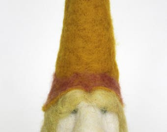 Felted Wool Large Yellow Tomte Gnome