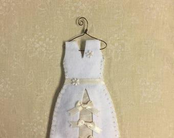 Organic Lavender Filled Sachet Dress, White Wedding