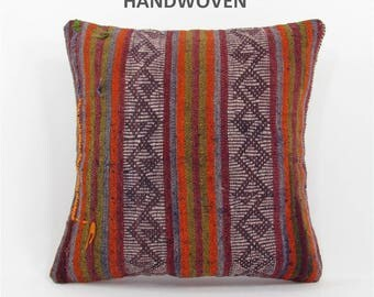 kilim pillow cover throw pillow kilim pillow case decorative pillow turkish cushion tapestry rustic pillow farmhouse decor home decor 000106