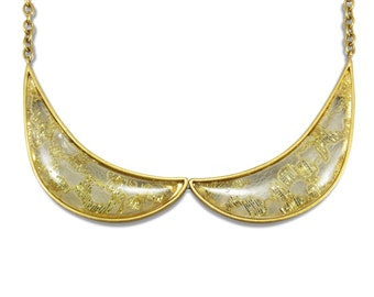 Good Girl Necklace Gold Lace Peter Pan Collar Fashion Jewelry