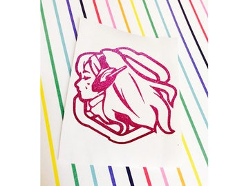 D.Va Decal | Overwatch Decal| D.Va Sticker | Overwatch Vinyl Decal for Laptop, Phone, Case, Car, Mirror - Gamer Girl - Custom Colors