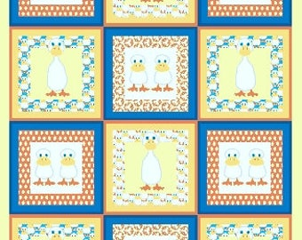Duck, Duck, Goose Andover Fabric Panel #3320 by Jamie Kalvestran