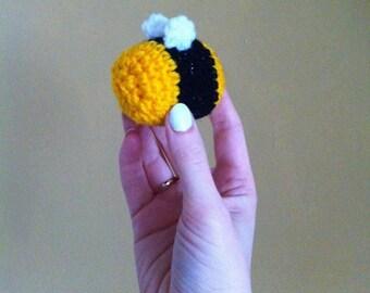 Crochet Amigurumi Bumble Bee Brooch