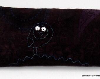 Yoga eye pillow velvet OWL orange blossom milk rice of wellness relaxation eye bags