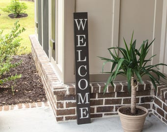 Welcome Sign / Front Porch Sign / Front Porch Decor / Front Door Sign / Personalized Wooden Sign / Wooden Sign