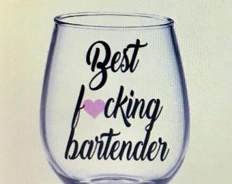 Bartender gift. Bartender wine glass. Gift for bartender. Bartenders. Bartender.