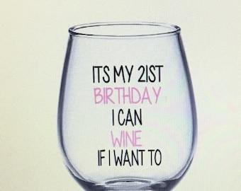 21st wine glass. 21st birthday gift. 21 wine glass. 21 gift. Finally 21. Finally 21 wine glass. Finally twenty one. Finally twenty one wine