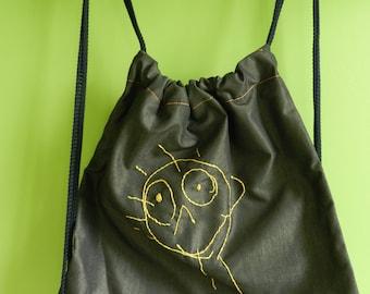 Embroidered toddler backpack