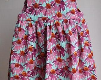 Baby girl's dress. Handmade dress. Baby dress. Gift for baby girl. Floral baby dress. Toddler dress.