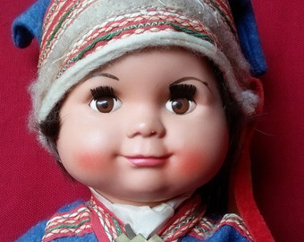 Vintage Laplander Boy Doll from Finland