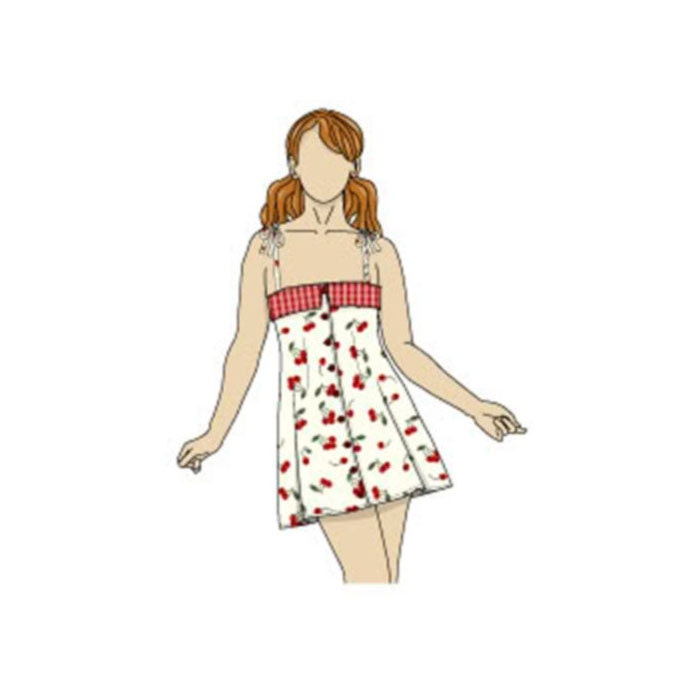 Fold Over Top Summer Strappy Dress Sewing Pattern -  - Sizes 8-22 UK - Download PDF