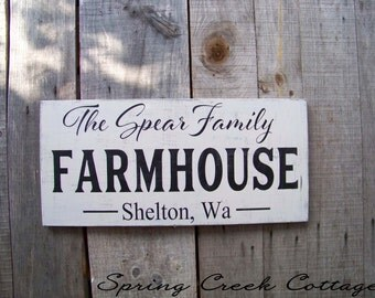 Personalized Signs, Wedding Gifts, Established Signs, Name Signs, Farmhouse Decor, Handpainted, Rustic Signs, Housewarming Gifts!