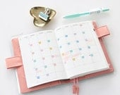 Calendar numbers, 1/4 in dots, 2 months per sheet, tiny date sticker dots, choose color set, bullet journal, agenda, planner, diary DAT6