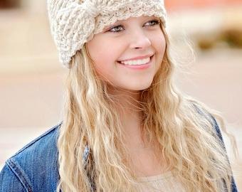 Crochet Pattern: Messy Bun Hat Or Regular Hat Crochet Pattern With Bow Pattern Sizes 12 mos Through Adult Katlyn Hat Pattern
