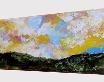 Horizontal Landscape, Landscape Painting, Original Painting, Original Art, Winjimir, Home Decor, Office Decor, Wall Art, Wall Decor, Gift,