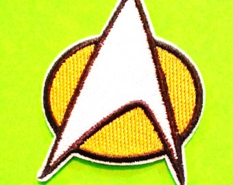 Star Trek Communicator Badge Next Generation or Original Series Fully Embroidered Iron or Sew On Patch - More Styles