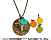 Mothers Day Family Tree Necklace|mothers day jewelry|Monogram|Initial|Mother's Day Gift|Personalized|Necklace|Personalized|Mom|Gift|for Mom