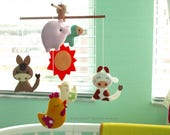 Free US Ship Musical Mobile Playhouse Farm, Country Home Decor, Barnyard Animals Theme, Farm Country Theme Room, Modern Baby Nursery Decor