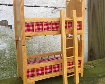 Miniature Bunk Beds Dollhouse Vintage 1980s