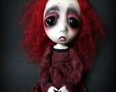 Loopy Southern Gothic Art Doll Victorian Dark Goth Scarlet
