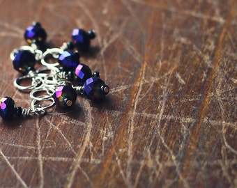 SALE*** Deep Purple - Knit or Crochet - Stitch Markers or Holders (#2, #3) - Set of 8