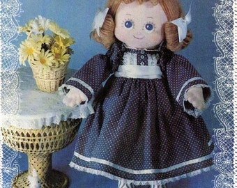 "LACIE DAISYMAE Cloth Doll Pattern 18"" Tall with Wardrobe c. 1981"