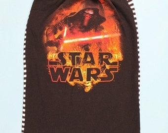 STAR WARS Tube Top - Star Wars Shirt - Handmade Star Wars shirt - Upcycled Tshirt - Womens Darth Vader Shirt, Kylo Ren shirt