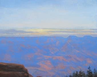 grand canyon sunset arizona landscape southwest painting foust