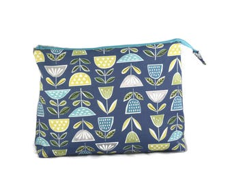 Flower Knitting Bag, Zipper Cosmetic Bag, Zipper Bag