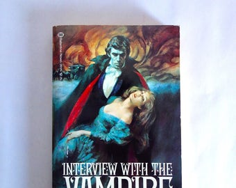 1979 RARE Interview With The Vampire UNREAD Anne Rice FABULOUS Gothic Romance Style Cover Art Near Mint Gothic Horror New Orleans