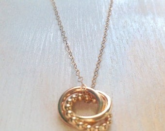 Gold Love Knot Pendant Gold-Filled Chain Love Forever Necklace Anniversary Gift 30th Birthday Gift MADE TO ORDER
