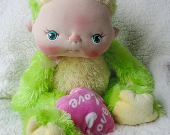 The Thrift Store BeBe Baby Frog for Charity Adopt Him To Help US Schools Fundraiser Valentines Day Gift