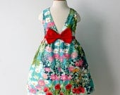 Bright, Happy Flower Garden Dress, for Girl and Toddler