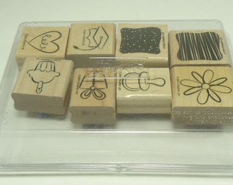 Little Layers Plus 2 Step Wood Mounted Rubber Stamp Set From Stampin Up