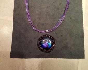 Artglass beaded pendant