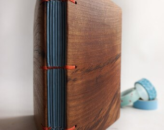 Wood book Lined journal Diary