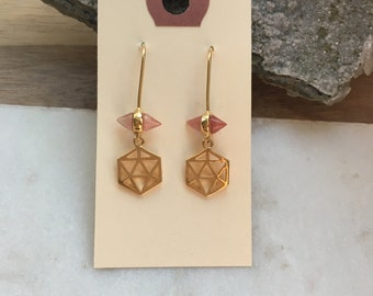 Crow Point Earrings - Grapefruit