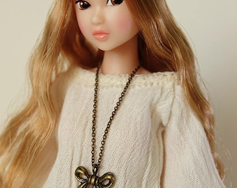 Lotus necklace  - Handmade jewerly for Momoko and 1/6 fashion dolls