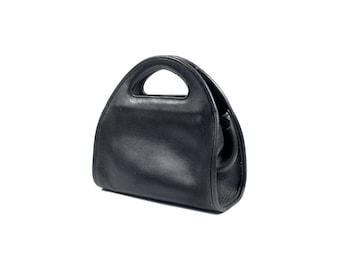 Vintage Coach Bag - Vintage 90s Coach - Coach Purse - Coach Carousel Clutch - Black Coach Bag - Vintage Coach Purse - Top Handle Purse