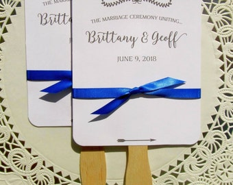 Personalized Wedding Fan - Wedding Fans - Rustic Wedding Fans - Wedding Fan Favor - Wedding Hand Fans - Modern Wedding Fans