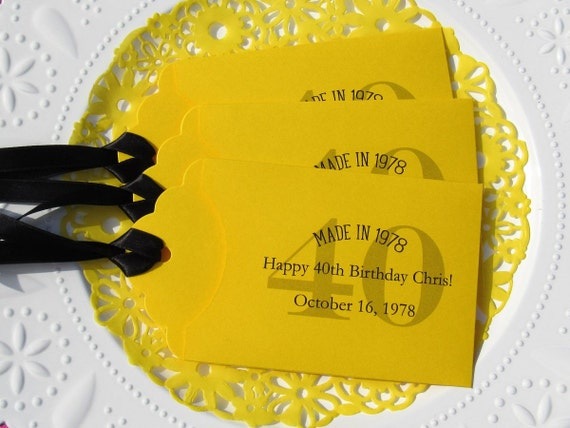 40th adult party favors