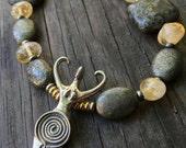Earth Dreamer Sterling Silver Spiral Goddess Gemstone Necklace