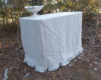 Floor Length Tablecloth Fitted Slipcover Table Cloth Custom Sizes Shop  Decor Art Show Table Cloths Wedding