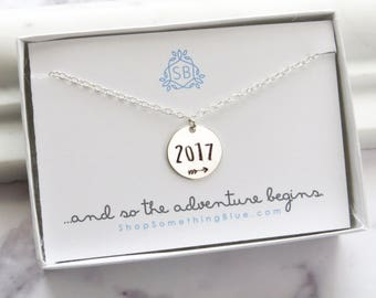 Graduation Gift • Stamped Arrow Class of 2017 • High School Graduation • College Graduation • Student Gift • Gift for Her • Adventure Begins