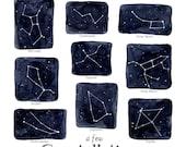 A Few Constellations 13 x 19 Poster - Stars, Montessori, Educational, Astronomy, Nature Study