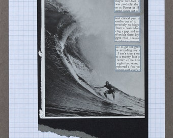 Original OOAK Handmade Analog Surfing Collage