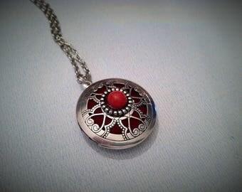 Essential Oil Jewelry Aromatherapy Diffuser Silver Locket W/Silver Chain