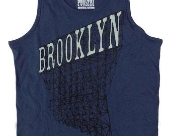 Brooklyn Tank Top in Men's Navy Blue