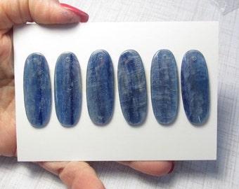 Kyanite Briolette Bead Pendant, 15mm x 40mm Natural Brazilian Kyanite Gemstone QTY1