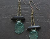 SALE - Recycled Glass Geometric Earrings